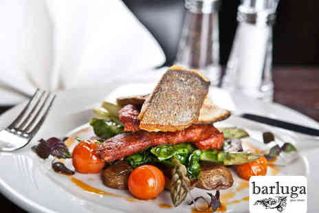 Barluga Grey Street - Starter Main and Glass of Prosecco Each for Two People - Save 51%