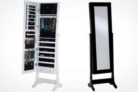 James Russell - Full Length Mirrored Jewellery Armoire - Save 72%