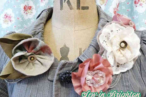 Sew in Brighton - Three Hour Vintage Hair Accessories and Brooch Making Workshop - Save 65%