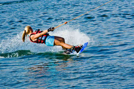 Learn 2 Go - Two hour wakeboarding, waterskiing or kneeboarding experience for one - Save 52%