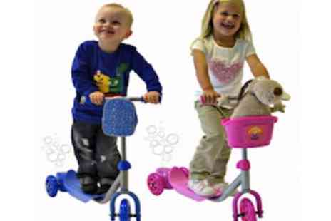 Bubbles - Kids Rocket Bubble Scooter Mini 3 Wheel Micro Scooter For Boys And Girls - Save 47%