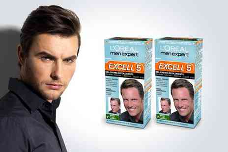 M&B Bargains - Two LOreal Excell 5 mens hair dye in natural dark blonde - Save 50%
