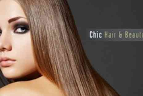 Chic Hair and Beauty Group - Brazilian Keratin Hair Straightening Treatment - Save 72%