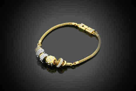 SedgePaul - High Quality Crystal Gold Plated Charm Bracelet - Save 75%