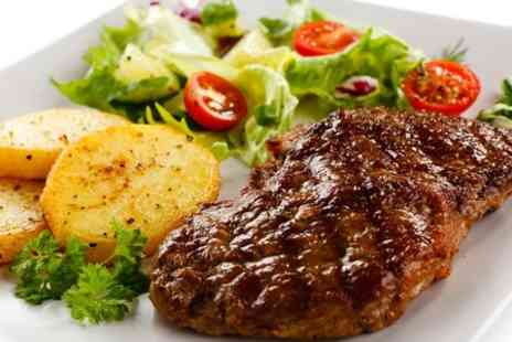 The Fox & Hound Inn - Eight Ounce Rump Steak Meal For Two With Wine - Save 36%