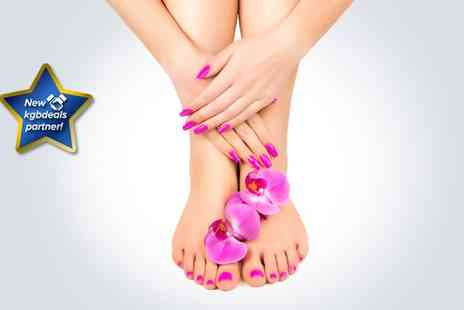 Chameleon Hair & Beauty - Gelish manicure and pedicure - Save 53%