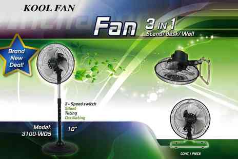 InProducts - Three in one oscillating metal fan - Save 69%
