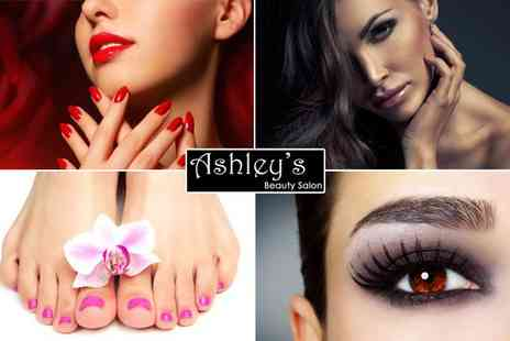 Ashleys Beauty Salon - Summer Pamper Package including Eyelashes, an express facial and Indian head massage - Save 42%