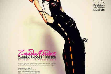 Fashion and Textile Museum - TwoTickets to Zandra Rhodes - Save 50%