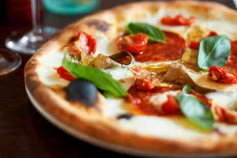 The North Star - Two Stone Baked Pizzas and Two Glasses of Wine - Save 53%
