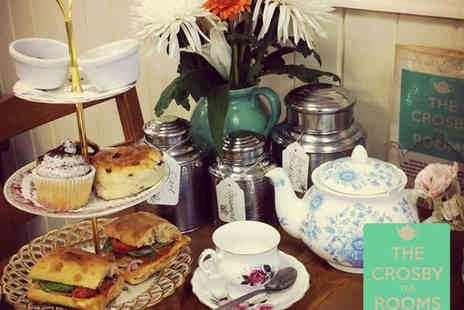 The Crosby Tea Rooms - Afternoon Tea for Two - Save 50%