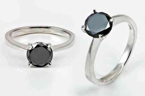 Victorias Candy - One Carat Black Diamond Ring - Save 80%