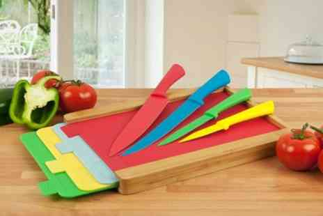 James Russell - Chopping Board and Knife Set - Save 68%