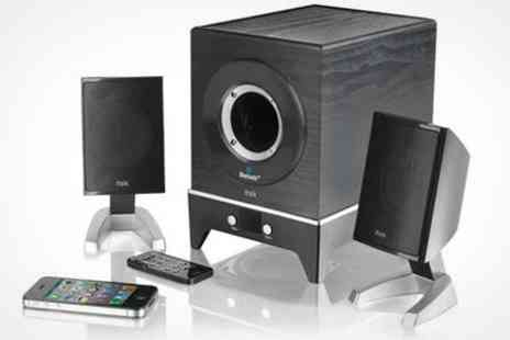 Deluxe Home Brands - Bluetooth Speaker System With Subwoofer - Save 65%