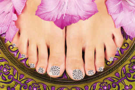 Face Factory - Swarovski Elements crystal pedicure - Save 76%