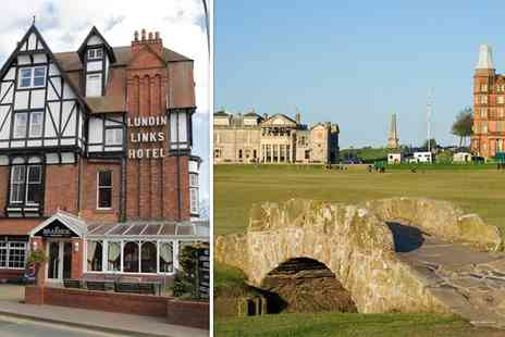 Lundin Links Hotel - One Night Fife break for two including a three course meal with a glass of wine each - Save 56%