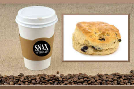 Snax N The City - Takeaway Treat Any Cookie Traybake or Scone with Tea or Coffee - Save 56%
