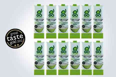 The Mood Food Company - One litre bottles of Go Coco Coconut Water - Save 50%
