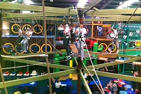 Mister Twisters - One Family Play Centre Visits Including Access to High Ropes Course - Save 63%