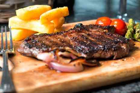 Relentless Steak & Lobster House - Sirloin Steak Dinner for 2 with Starters - Save 43%
