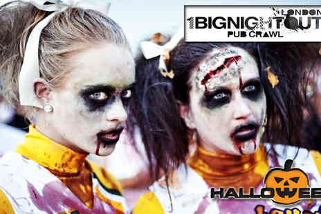 1 Big Night Out - Halloween Zombie Pub Crawl - Save 52%