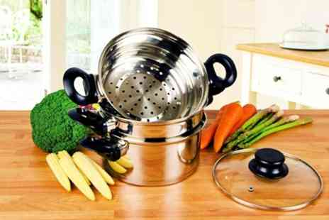 James Russell - Two Tier Stainless Steel Steamers - Save 57%