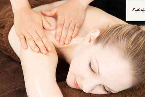 Lush Studios - Luxury Manicure Pedicure Back and Shoulder Massage - Save 70%
