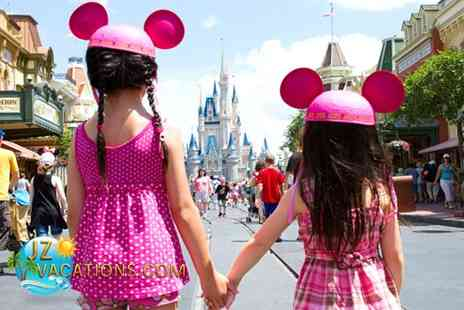 JZ Vacations - In Orlando Hotel stay with One Day Pass for FOUR people to Disneyland - Save 53%