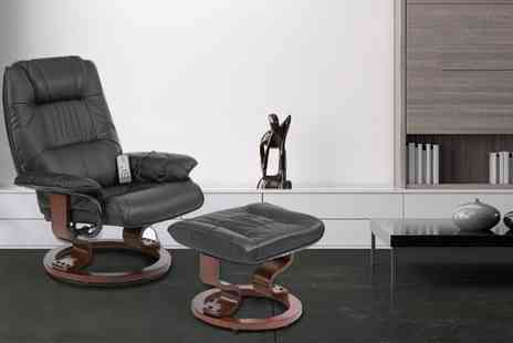 Grampian Furnishers - Napoli Massage Chair with matching footstool  - Save 50%
