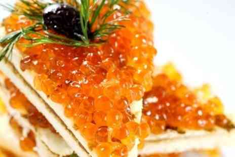 Sobranie - Three Course Russian Meal For Two With Caviar and a Bottle of Wine - Save 55%