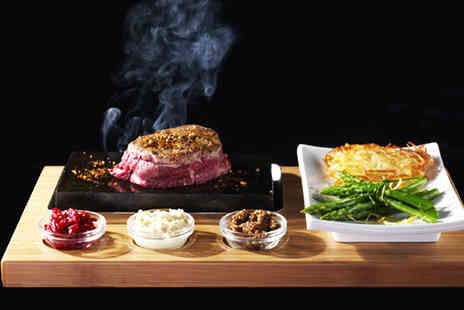Rangos - Three course hot stone steak meal for 2 - Save 53%