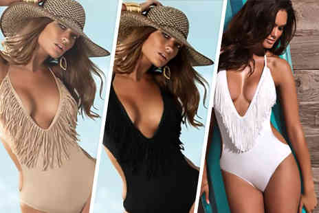 My Dress Room - Stylish fringe monokini in a choice of colours - Save 56%