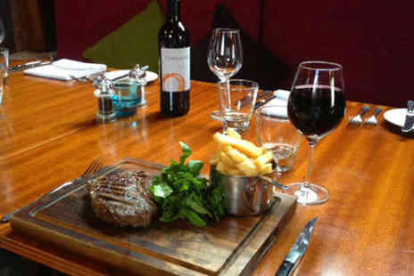 ROCK Wimborne - 8oz Rump Steak and Chips with Glass of Wine Each for Two People - Save 56%