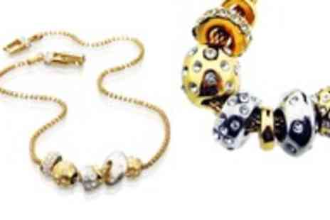 Oodlebee - 18ct gold plated charm necklace - Save 87%