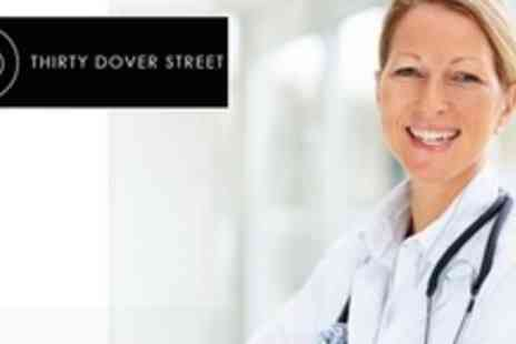 Thirty Dover Street - Comprehensive Medical Assessment With GP Consultation - Save 86%