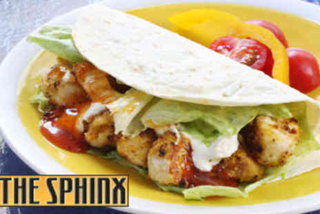 The Sphinx - Large Chicken Kebabs For Two With Rice Chips or Pita Bread - Save 50%