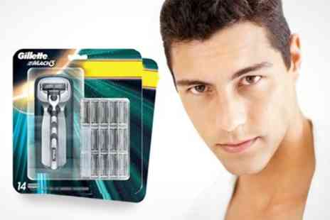 ebeez.co.uk - Gillette Razor Plus 13 Additional Blades - Save 20%