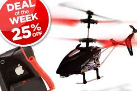 AppToyz Helicopter - Remote control Helicopter controlled from your Iphone! - Save 25%