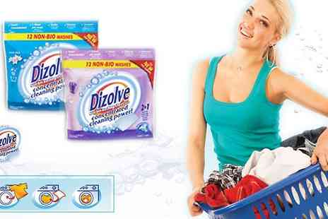 Dizolve - 3 x 20 Non Bio Washing Sheetsbulky boxes and meet the next washing revolution - Save 50%
