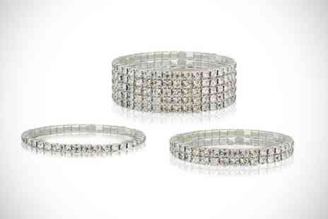 Clear Crystal UK - Tennis Bracelet With SWAROVSKI ELEMENTS - Save 63%