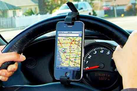 Cartviva - Steering wheel smart phone holder - Save 80%