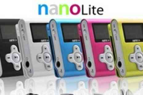 nanolite.co.uk -Two 4GB MP3 Players With Portable Speakers and In Car FM Transmitter - Save 69%