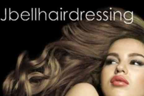 JBell Hair - Cut and Restyle Plus Hair Mayonnaise Heat Treatment With Blow Dry and Head Massage - Save 60%