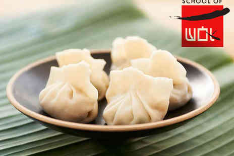 School Of Wok - Dim Sum Cookery Class with Glass of Prosecco for One - Save 62%