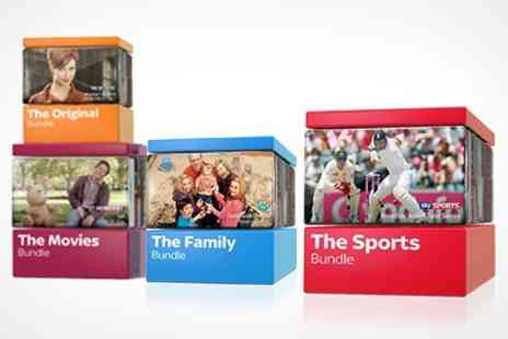 BSkyB - Sky TV Half Price Packages for Twelve Months including SkySports, SkyMovies, and Family Bundle - Save 40%