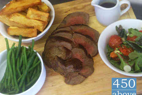 450 Above - Chateaubriand Steak Meal with Glass of Wine Each for Two People - Save 51%