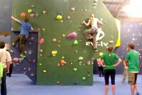 Rock Antics - Indoor Climbing Induction Plus Day Pass and Shoe Hire - Save 66%