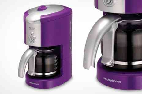 Deluxe Home Brands - Morphy Richards Purple Coffee Maker - Save 60%