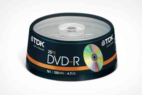 ASK Direct - 25 CD R or DVD R Spindle - Save 58%