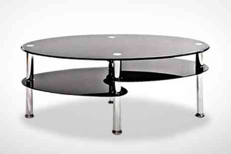 GRS Gadgets - Cara Coffee Table With Clear or Black Glass - Save 61%